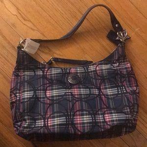 New with tags plaid Coach handbag F20118